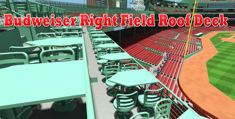Budweiser Roof Deck Seats
